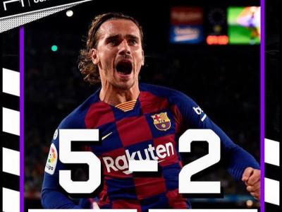بارسلونا ۵-۲ بتیس؛ جشنواره گل بارسا با درخشش گریزمان